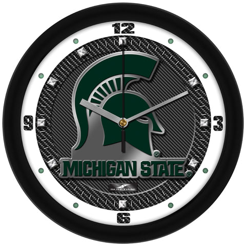 Michigan State Spartans - Carbon Fiber Textured Wall Clock