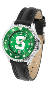 Michigan State Spartans - Competitor Ladies' AnoChrome  -  Color Bezel - SuntimeDirect