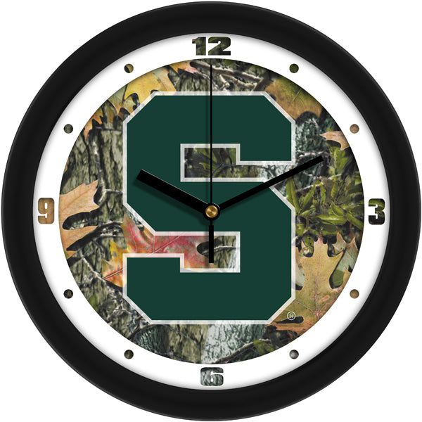 Michigan State Spartans - Camo Wall Clock - SuntimeDirect