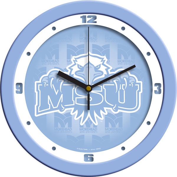Morehead State University Eagles - Baby Blue Wall Clock - SuntimeDirect