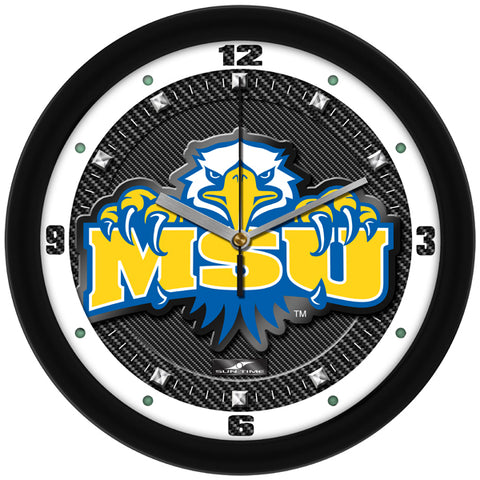 Morehead State University Eagles - Carbon Fiber Textured Wall Clock