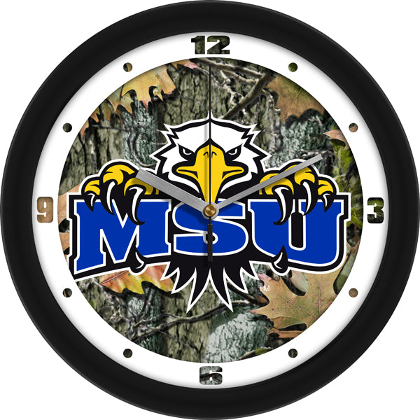 Morehead State University Eagles - Camo Wall Clock