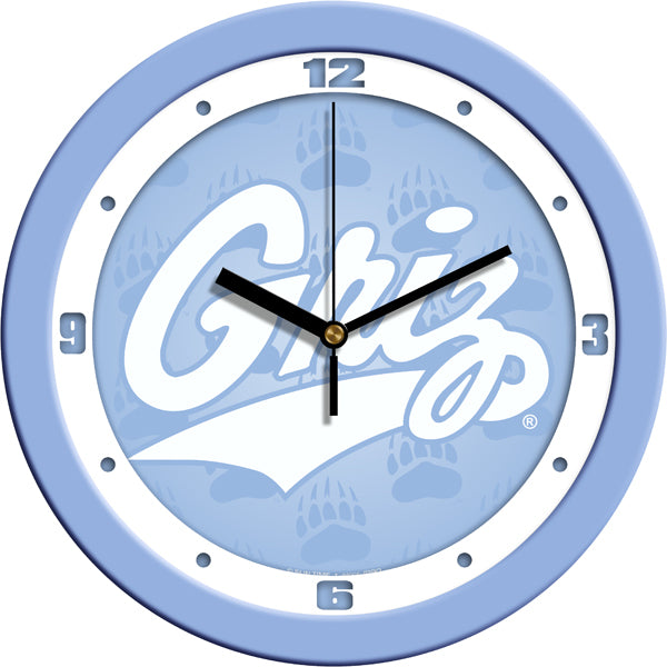Montana Grizzlies - Baby Blue Wall Clock - SuntimeDirect