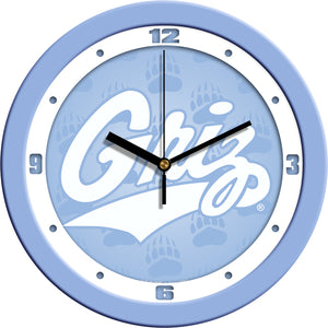 Montana Grizzlies - Baby Blue Wall Clock