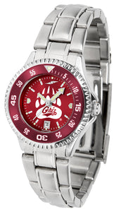 Montana Grizzlies - Competitor Ladies' Steel AnoChrome  -  Color Bezel - SuntimeDirect