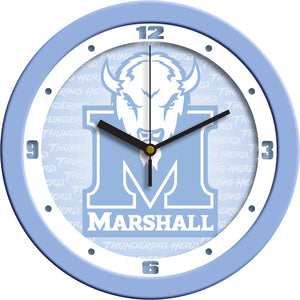 Marshall University Thundering Herd - Baby Blue Wall Clock