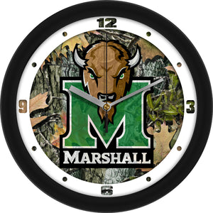 Marshall University Thundering Herd - Camo Wall Clock