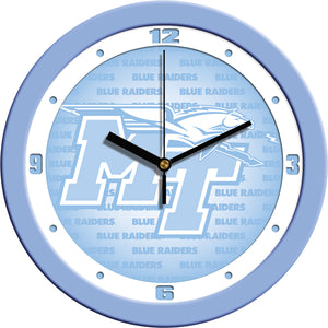 Middle Tenn. State Blue Raiders - Baby Blue Wall Clock - SuntimeDirect
