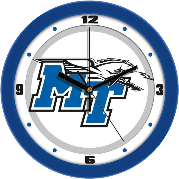 Middle Tenn. State Blue Raiders - Traditional Wall Clock - SuntimeDirect