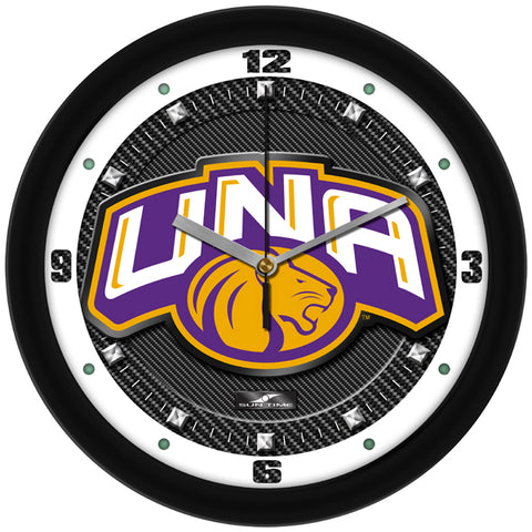 North Alabama Lions - Carbon Fiber Textured Wall Clock