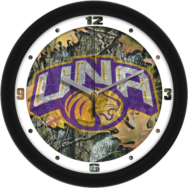 North Alabama Lions - Camo Wall Clock - SuntimeDirect