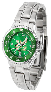 North Carolina Charlotte 49ers - Competitor Ladies' Steel AnoChrome  -  Color Bezel - SuntimeDirect