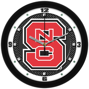 NC State Wolfpack - Carbon Fiber Textured Wall Clock - SuntimeDirect