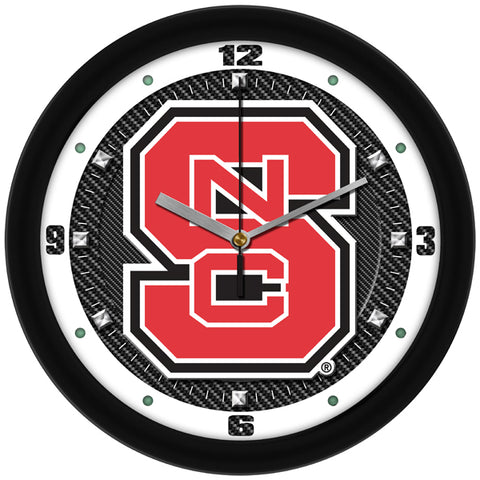 NC State Wolfpack - Carbon Fiber Textured Wall Clock