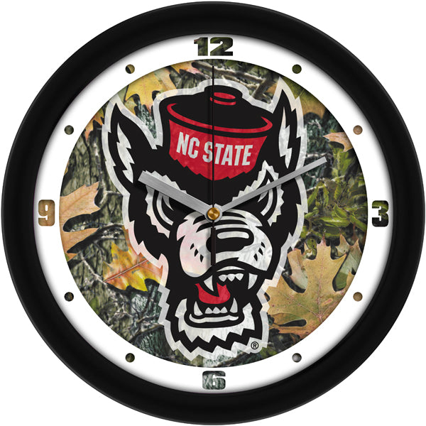 NC State Wolfpack - Camo Wall Clock - SuntimeDirect