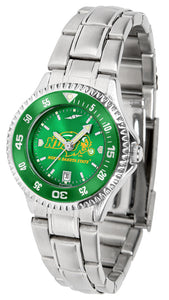 North Dakota State Bison - Competitor Ladies' Steel AnoChrome  -  Color Bezel - SuntimeDirect