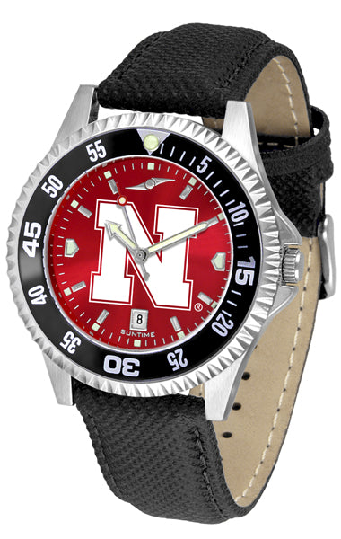 Nebraska Cornhuskers - Competitor AnoChrome  -  Color Bezel - SuntimeDirect