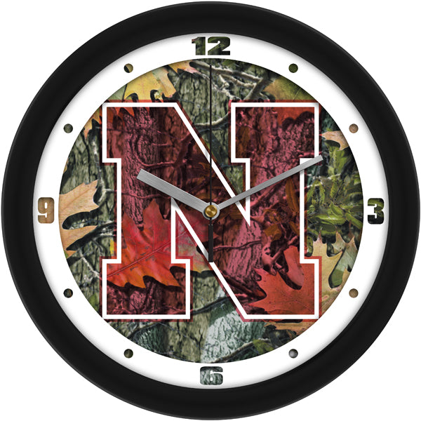 Nebraska Cornhuskers - Camo Wall Clock - SuntimeDirect