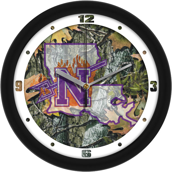 Northwestern State Demons - Camo Wall Clock - SuntimeDirect