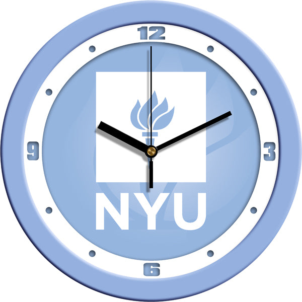 New York University Violets - Baby Blue Wall Clock