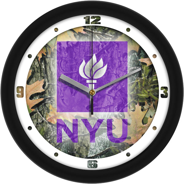 New York University Violets - Camo Wall Clock - SuntimeDirect