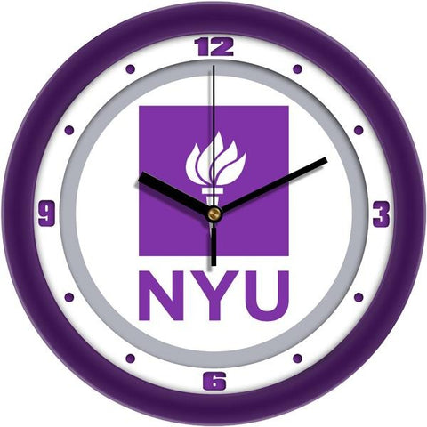 New York University Violets - Traditional Wall Clock