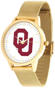 Oklahoma Sooners - Mesh Statement Watch - Gold Band