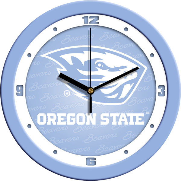 Oregon State Beavers - Baby Blue Wall Clock