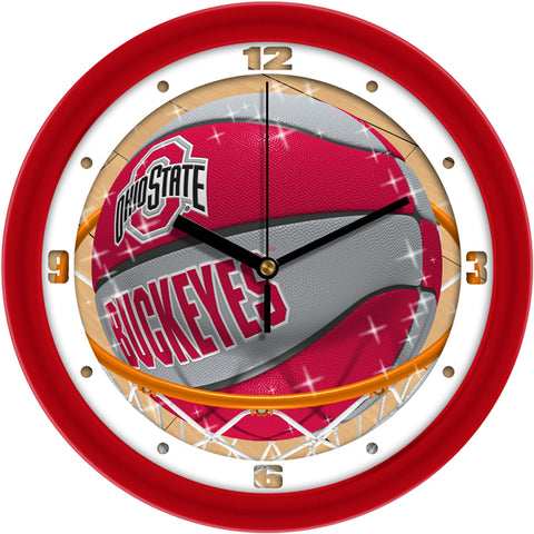 Ohio State Buckeyes - Slam Dunk Wall Clock - SuntimeDirect