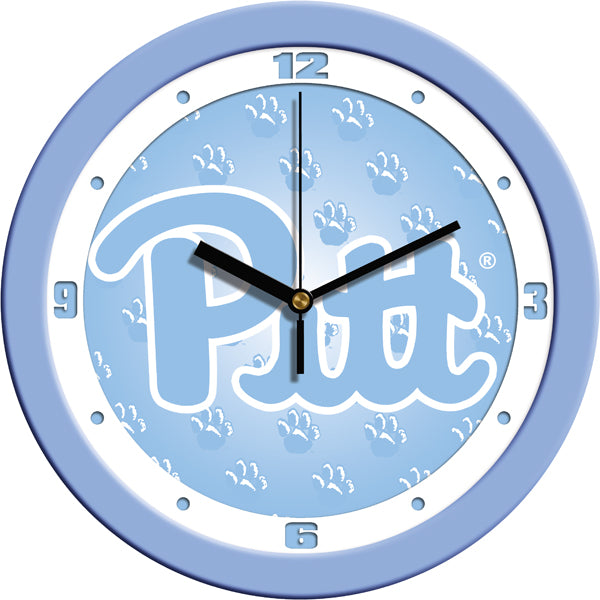 Pittsburgh Panthers - Baby Blue Wall Clock