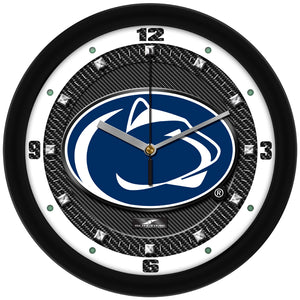 Penn State Nittany Lions - Carbon Fiber Textured Wall Clock - SuntimeDirect