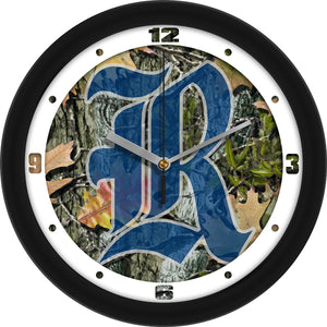 Rice University Owls - Camo Wall Clock - SuntimeDirect