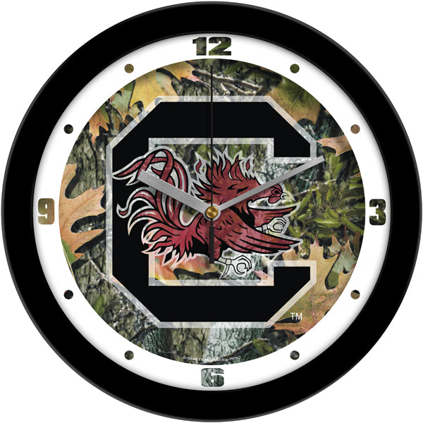 South Carolina Gamecocks - Camo Wall Clock