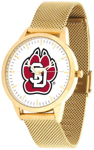 South Dakota Coyotes - Mesh Statement Watch - Gold Band