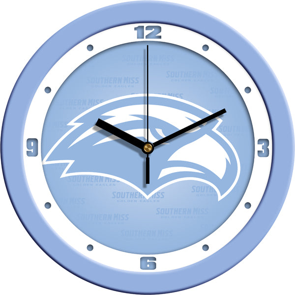 Southern Mississippi Eagles - Baby Blue Wall Clock