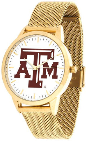 Texas A&M Aggies - Mesh Statement Watch - Gold Band