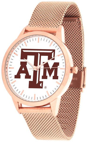 Texas A&M Aggies - Mesh Statement Watch - Rose Band