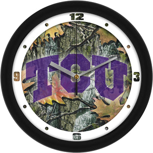 Texas Christian Horned Frogs - Camo Wall Clock - SuntimeDirect