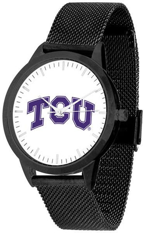 Texas Christian Horned Frogs - Mesh Statement Watch - Black Band