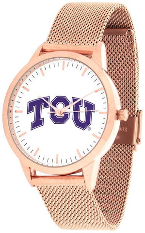 Texas Christian Horned Frogs - Mesh Statement Watch - Rose Band