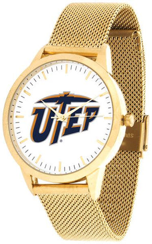 Texas El Paso Miners - Mesh Statement Watch - Gold Band