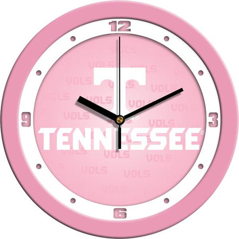 Tennessee Volunteers - Pink Wall Clock
