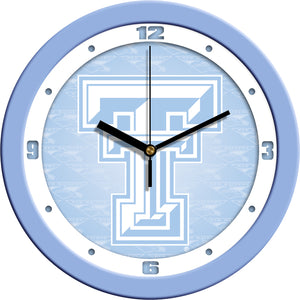 Texas Tech Red Raiders - Baby Blue Wall Clock - SuntimeDirect