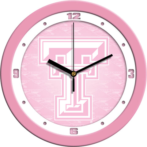 Texas Tech Red Raiders - Pink Wall Clock