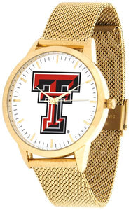 Texas Tech Red Raiders - Mesh Statement Watch - Gold Band