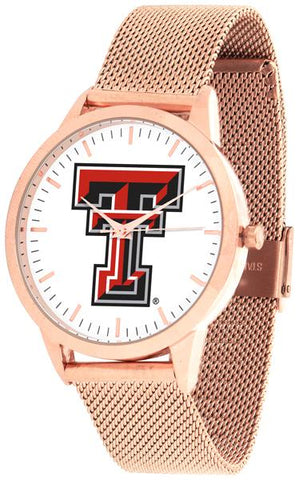 Texas Tech Red Raiders - Mesh Statement Watch - Rose Band