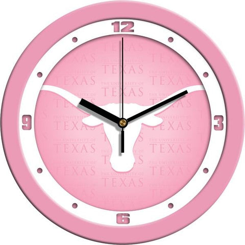 Texas Longhorns - Pink Wall Clock