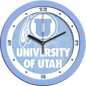 Utah Utes - Baby Blue Wall Clock