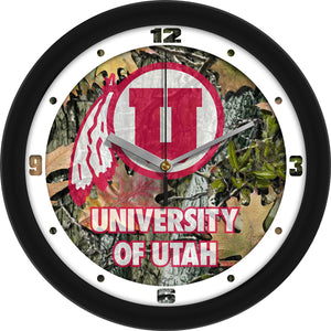 Utah Utes - Camo Wall Clock - SuntimeDirect