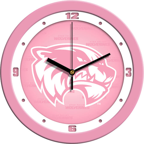 Utah Valley Wolverines - Pink Wall Clock